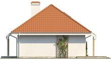 Проект одноэтажного коттеджа с чердаком традиционного стиля