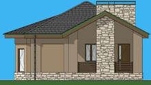 Схема дачного домика площадью 74 кв.м для комфортного отдыха