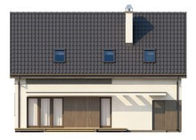Проект традиционного коттеджа со встроенным гаражом