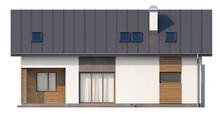 Проект коттеджа с гаражом и кабинетом на первом этаже
