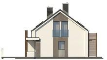Проект двухсемейного дома с общим входом