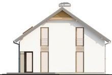 Проект дома с большой террасой над гаражом