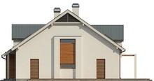 Проект яркого стильного классического дома с мансардой и гаражом для автомобиля