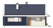 Проект современного одноэтажного дома с необычной террасой