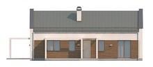 Проект небольшого современного одноэтажного дома