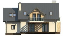 Проект современного дома с пятью спальнями и гаражом
