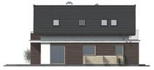 Проект дома с мансардой для узкого участка