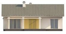 Проект простого элегантного одноэтажного дома