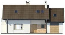 Проект дома с двускатной кровлей и гаражом