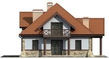 Проект дома на две семьи в стиле усадьбы