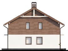 Проект двухэтажного дома с панорамным остеклением