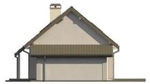 Проект классического дома с одинарным гаражом