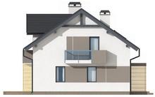 Проект небольшого красивого дома с мансардой