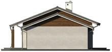 Проект комфортного уютного одноэтажного дома с гаражом