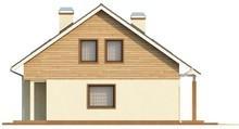 Проект классического бюджетного дома с мансардой