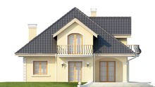 Проект классического дома с мансардой