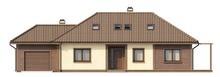 Проект классического коттеджа с мансардой и 2 спальнями