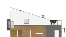 Современный стильный дом на две семьи с просторными балконами на втором этаже