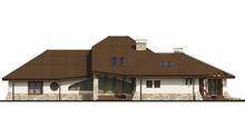 Проект комфортабельного классического особняка с гаражом для двух автомобилей