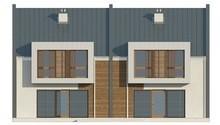 Проект современного энергосберегающего коттеджа формы таунхаус