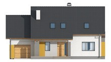 Проект красивого удобного дома с мансардой и гаражом