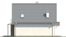 Проект дома с кухней на южной стороне