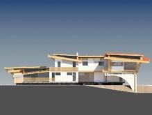 Проект оригинального современного особняка с бассейном