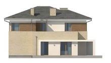 Проект современного двухэтажного дома с баней на первом этаже