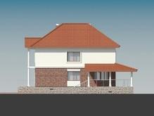 Проект двухэтажного коттеджа с отдельным выходом на просторную террасу