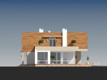 Современный удобный двухэтажный дом с балконами