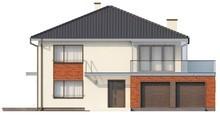 Проект двухэтажного дома с эркером над гаражом