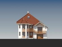Дом с оригинальной архитектурой и двумя кухнями