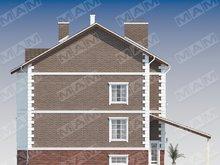 Проект классического трехэтажного дома с цокольным этажом