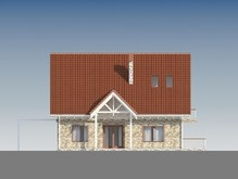 Проект уютного дома с мансардой и с просторной террасой