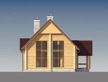 Проект деревянного дома со вторым светом