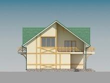 Проект коттеджа с мансардой и большими балконами