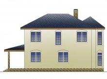 Респектабельный коттедж с витражными окнами