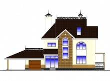 Проект двухэтажного дома с бильярдной в мансарде