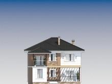 Архитектурный проект двухэтажного дома с террасой площадью 200 m²