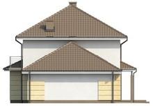 Проект двухэтажного коттеджа с гаражом и многоскатной кровлей