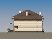 Архитектурный проект загородного особняка с террасой