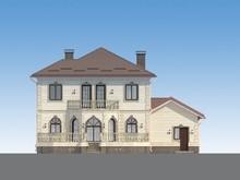 Архитектурный проект изысканного необычного дома до 300 m²