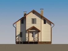 Архитектурный проект жилого дома с мансардой и оригинальным фасадом