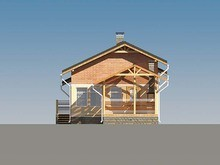 Архитектурный проект бани с уютной крытой террасой