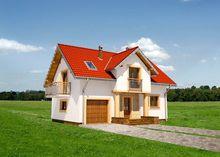 Милый дом с балкончиками
