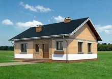 Небольшой дом на четыре жилые комнаты