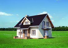 Компактный домик со встроенным гаражом