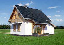 Небольшой загородный коттедж площадью 110 m²