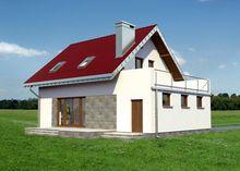 Архитектурный проект стильного особняка площадью 140 m²