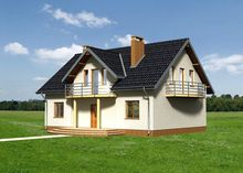 Проект современного дома со светлой открытой террасой
